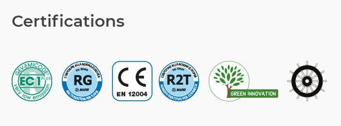 Вся продукция фабрики Mapei сертифицирована по международным стандартам качества и экологичности
